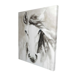 Canvas 48 x 60 - 3D - Beautiful abstract horse