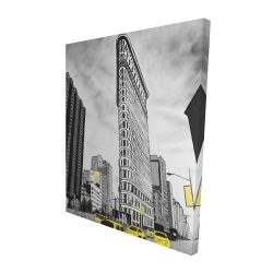 Canvas 48 x 60 - 3D - Outline of flatiron building to new-york