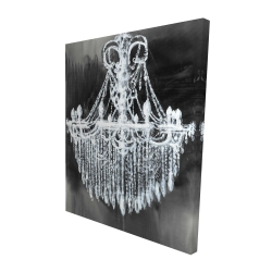 Canvas 48 x 60 - 3D - Big glam chandelier
