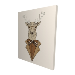 Canvas 48 x 60 - 3D -  deer with brown coat