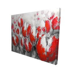 Canvas 48 x 60 - 3D - Abstract red tulips