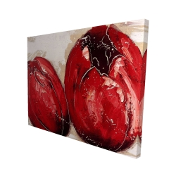 Canvas 48 x 60 - 3D - Two red tulips