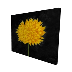 Canvas 48 x 60 - 3D - Yellow chrysanthemum