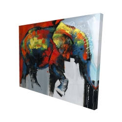Canvas 48 x 60 - 3D - Abstract and colorful elephant in motion