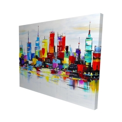 Canvas 48 x 60 - 3D - Abstract and colorful city