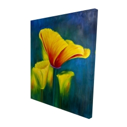 Canvas 48 x 60 - 3D - Beautiful colorful flowers