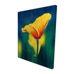 Canvas 48 x 60 - 3D - Superb contrast flowers