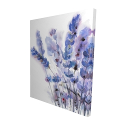 Canvas 48 x 60 - 3D - Watercolor lavender flowers