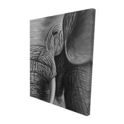 Canvas 48 x 60 - 3D - Elephant