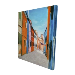 Canvas 48 x 60 - 3D - Colorful houses in italy