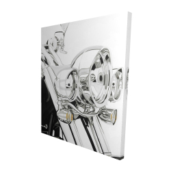 Canvas 48 x 60 - 3D - Motorcycle light