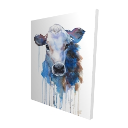 Canvas 48 x 60 - 3D - Watercolor jersey cow