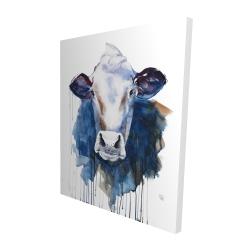 Canvas 48 x 60 - 3D - Watercolor cow