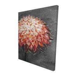 Canvas 48 x 60 - 3D - Abstract dahlia flower