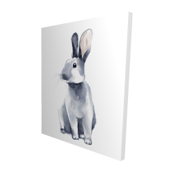 Canvas 48 x 60 - 3D - Gray curious rabbit