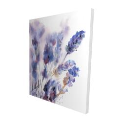 Canvas 48 x 60 - 3D - Watercolor lavender flowers with blur effect