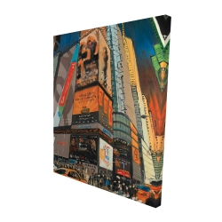 Canvas 48 x 60 - 3D - Illuminated new york city street