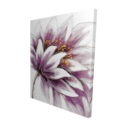 Canvas 48 x 60 - 3D - Purple flower