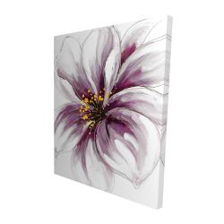 Canvas 48 x 60 - 3D - Purple orchid