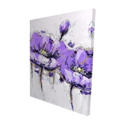Canvas 48 x 60 - 3D - Purple anemone flowers