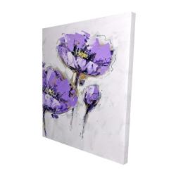 Canvas 48 x 60 - 3D - Purple anemones