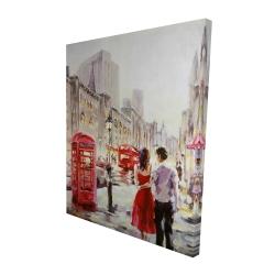 Canvas 48 x 60 - 3D - Couple walking