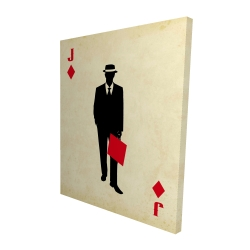 Canvas 48 x 60 - 3D - Jack of diamonds