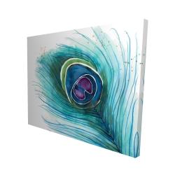 Canvas 48 x 60 - 3D - Peacock feather closeup