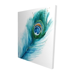 Canvas 48 x 60 - 3D - Long peacock feather