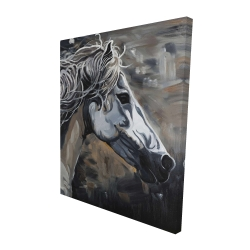 Canvas 48 x 60 - 3D - Side of a wild horse