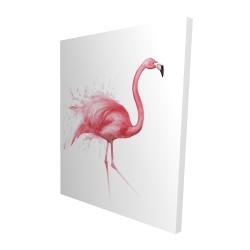 Canvas 48 x 60 - 3D - Pink flamingo watercolor