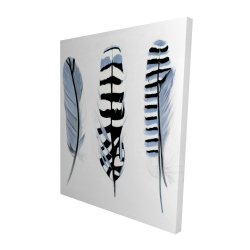 Canvas 48 x 60 - 3D - Delicate feathers