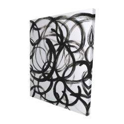 Canvas 48 x 60 - 3D - Abstract curly lines