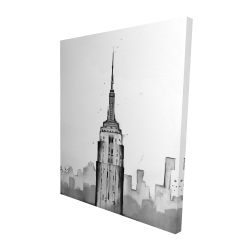 Canvas 48 x 60 - 3D - Empire state building