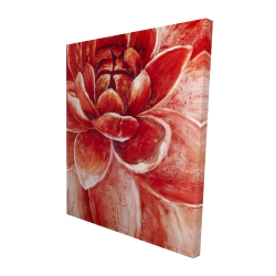 Canvas 48 x 60 - 3D - Red chrysanthemum