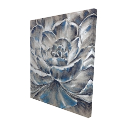 Canvas 48 x 60 - 3D - Gray and blue flower