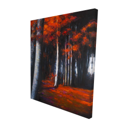 Canvas 48 x 60 - 3D - Mysterious forest
