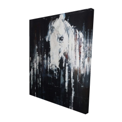Canvas 48 x 60 - 3D - Abstract horse on black background