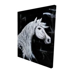 Canvas 48 x 60 - 3D - Horse profile view
