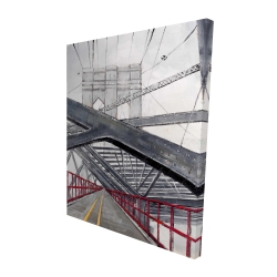 Canvas 48 x 60 - 3D - Under the brooklyn bridge