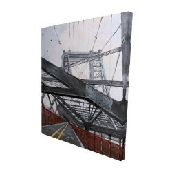 Canvas 48 x 60 - 3D - Bridge architecture