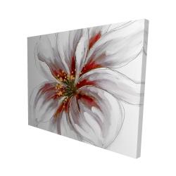 Canvas 48 x 60 - 3D - Resplendent pink orchid