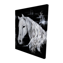 Canvas 48 x 60 - 3D - Abstract horse profile view