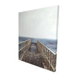 Canvas 48 x 60 - 3D - Relaxing beach