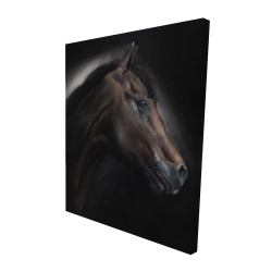 Canvas 48 x 60 - 3D - Loneliness horse
