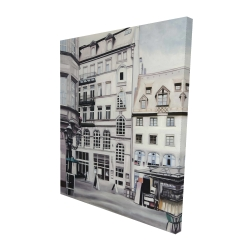Canvas 48 x 60 - 3D - Street scene in germany