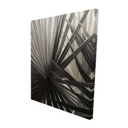 Canvas 48 x 60 - 3D - Grayscale tropical plants