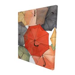 Canvas 48 x 60 - 3D - The umbrellas of petit champlain
