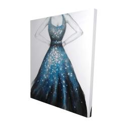 Canvas 48 x 60 - 3D - Blue princess dress