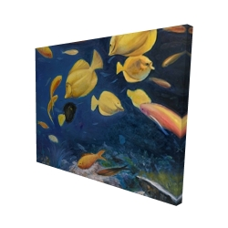 Canvas 48 x 60 - 3D - Fish under the sea